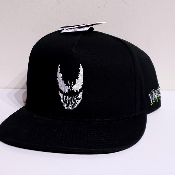Vans x Marvel Venom Black Snapback Hat Adult 98057fe447c0